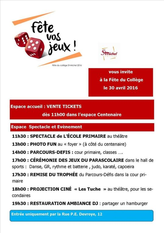 programme fête 2016